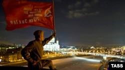 """Акция протеста на крыше здания, в котором расположена редакция """"Дождя"""" 27 января"""