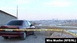 Место драки поссорившихся жителей поселка Забадам у реки Бадам. Шымкент, 30 октября 2012 года.