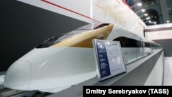 Макет скоростного поезда РЖД