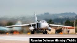Ռուսական ռազմական ինքնաթիռը լքում է Սիրիան, 16-ը մարտի, 2016թ․