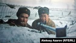 Эпизод из фильма «28 панфиловцев». Снимок с экрана.