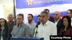 Прес конференција на Зоран Ѓорѓиев, претседател на ОО СДСМ Кавадарц
