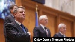 Președintele Klaus Iohannis la ședința solemnă a PArlamentului la București