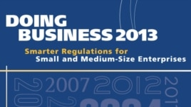 World -- Doing Business 2013 book cover, 23Oct2012