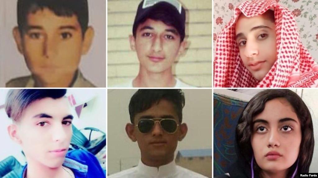 تعدادی از کودکان کشتهشده در اعتراضات آبان ماه