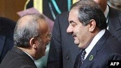 هوشياز زيباری و منوچهر متکی، وزيران امور خارجه عراق و ايران