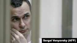 Oleh Sentsov at a military court in the city of Rostov-on-Don on July 21, 2015