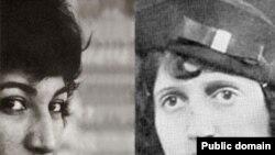 پروین اعتصامی (راست) و فروغ فرخزاد