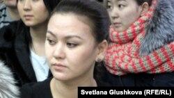 Гульдана Альменова, сестра потерпевшей Ляззат Альменовой. Астана, 22 января 2014 года.