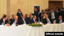من إجتماع القادة السياسيين في أربيل عام 2010