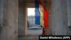Arcul de Triumf de pe strada Ștefan cel Mare din Chișinău (Daniel Mihăilescu/AFP)