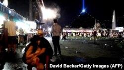 Неподалік місця у Лас-Вегасі, де були чутні постріли, 1 жовтня 2017 року