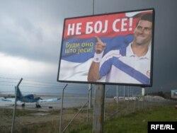 Plakat Novaka Đokovića za popis u Crnoj Gori