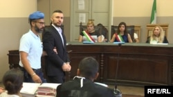 Ведуть підсудного Віталія Марківа, Павія, Італія, 14 вересня 2018 року