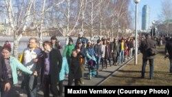 В Екатеринбурге горожане выступили против строительства храма на месте сквера