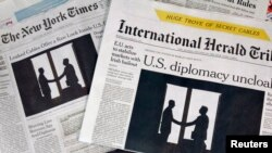 New York Times жана International Herald Tribune гезиттери