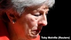 Тереза Мэй после объявления о планах уйти 7 июня в отставку с поста-премьер министра Британии. Лондон, 24 мая 2019 года.