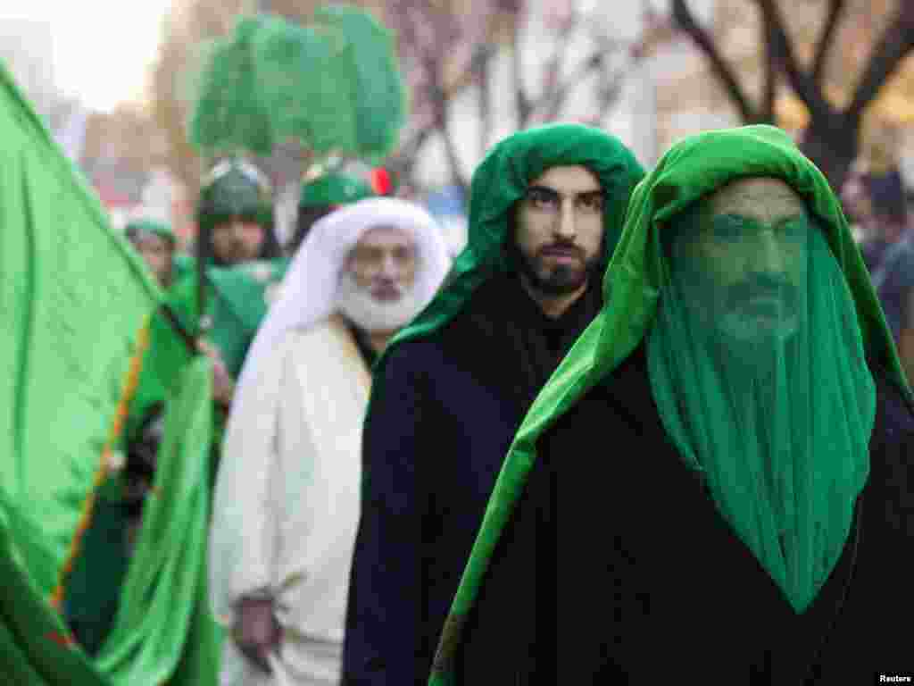 Ashura ceremonies include passion plays, like this one in Tehran on December 15, where participants reenact the final hours of Imam Hussein and his 72 companions. Iran is one of a small handful of countries with Shi'ite majorities.