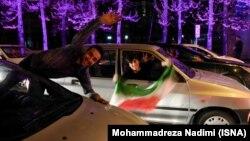 Ликование на улицах Тегерана после заключения соглашения по иранской ядерной программе