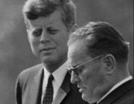 U.S. President John F. Kennedy (left) and Yugoslav President Josip Broz Tito