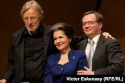 Un trio imbatabil: Frans Helmerson, Marta Casals Istomin și Raimund Trenkler