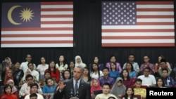 سخنرانی باراک اوباما در کوآلالامپور برای گروهی از دانشجویان