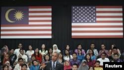 Barack Obama gjatë fjalimit të tij të djeshëm në një universitet në Malajzi