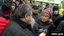 La un protest antiguvernamental la Slonim