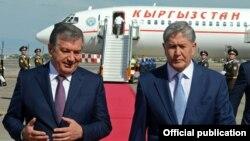 Алмазбек Атамбаев менен Шавкат Мирзиеёв. 23-июнь, Ташкен.