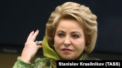 The speaker of the upper house of the Russian parliament, Valentina Matviyenko