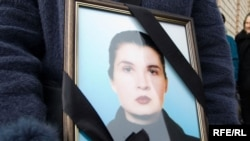 The funeral ceremony for human rights activist Yana Palyakova