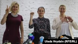 Вераніка Цапкала, Сьвятлана Ціханоўская, Марыя Калесьнікава