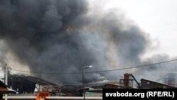 Пажар на Пінскдрэў, падчас якога загінулі 14 чалавек,