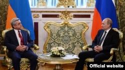 Հայաստանի և Ռուսաստանի նախագահների հանդիպումը Մոսկվայում, 8-ը մայիսի, 2014թ.