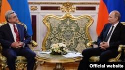 Встреча президентов Армении и России в Москве, 8 мая 2014 г․