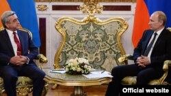 Հայաստանի նախագահ Սերժ Սարգսյանն ու Ռուսաստանի նախագահ Վլադիմիր Պուտինը Մոսկվայում, արխիվ