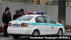 Полицейские в Алматы. Иллюстративное фото.