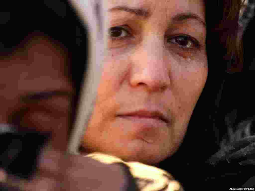A Shi'ite woman mourns during an Ashura procession at the Taza Pir Mosque in Baku, Azerbaijan, in 2009.