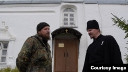 Встреча Михаила Баранова с оставшимися в Никитском монастыре. Осень 2017