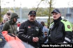 Віктар Лукашэнка і Ігар Шуневіч на адкрыцьці мотасэзону ў 2018 годзе