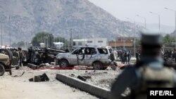 صحنه انفجار در کابل، پایتخت افغانستان.