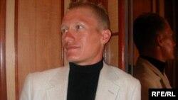 Велогонщик Александр Винокуров. Астана, 27 сентября 2005 года.