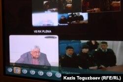 Видеоконференция в Военном суде Казахстана с гарнизонными военными судами Талдыкоргана и Астаны на заседании по делу Владислава Челаха. Алматы, 5 февраля 2013 года.