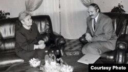 Разьвітальная сустрэча Эльжбеты Смулковай з Аляксандрам Лукашэнкам.