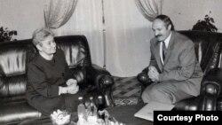 Разьвітальная сустрэча Эльжбеты Смулковай з Аляксандрам Лукашэнкам