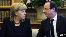 Angela Merkel və Francois Hollande