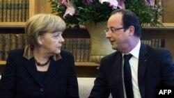 Президент Франції Франсуа Олланд і канцлер Німеччини Ангела Меркель