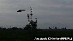 На подлете к военной базе в Ханкале