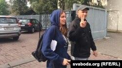 Кацярына Андрэева пасьля суду 16 жніўня