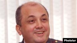 Начальник полиции Еревана Нерсес Назарян во время пресс-конференции, Ереван, 19 февраля 2010 г.
